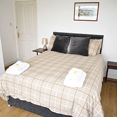 Minnies Rooms standard double room bed and breakfast on the Isle of Skye